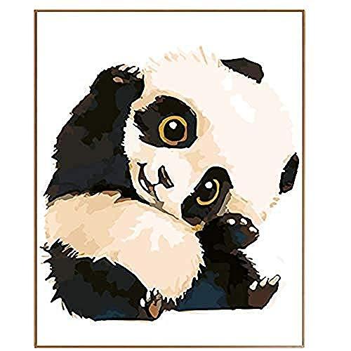 Kostüm Malvorlagen - yhwygg DIY Ölgemälde Adult Paint Set DIY Niedlichen Panda Cartoon Bild Von Digitalen Hand Gezeichnetes Ölgemälde Von Digitalen Malvorlagen - (40X50Cm) Mit Rahmen Malen Nach Zahlen