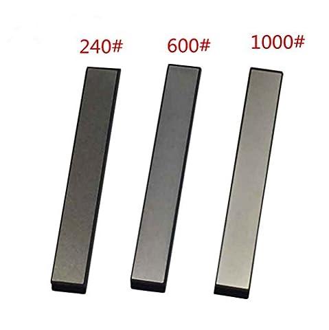 SharpMax Kitchen KnifeDiamond Stone Sharpener Edge Whetstone Blade Sharpening Stones Angel Fixed 240# 600# 1000# Grit Stone (1 Set 3pcs)