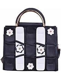 D-FIONA Black & White Hand Bag//Sling Bag For Women