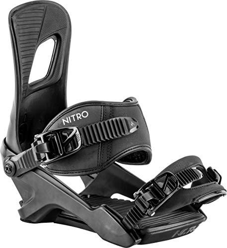 Nitro Snowboards Herren Rambler Bdg'19 All-Mountain Highend Snowboardbindung komfortable Allroundbindung Bindungen, Dark Night, L -