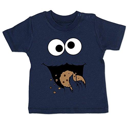 Shirtracer Karneval und Fasching Baby - Keks-Monster - 18-24 Monate - Navy Blau - BZ02 - Babyshirt - Kostüme Für Geburt Kinder