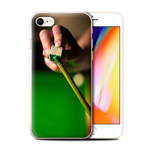 Stuff4 Hülle / Case für Apple iPhone 8 / Rote Kugel/Kreide Muster / Snooker Kollektion Kreide/Queue
