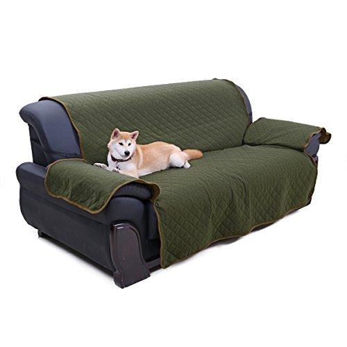 Pawz road dog divano protector copertura, reversibile pet sofa slipcover cane gatto letto mobili protezione copertura per sedia, verde scuro/marrone chiaro, 278,1cm l x 188cm w
