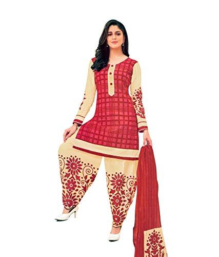 Miraan Women's Cotton Dress Material (Sg911Pati_Pink_Free Size)