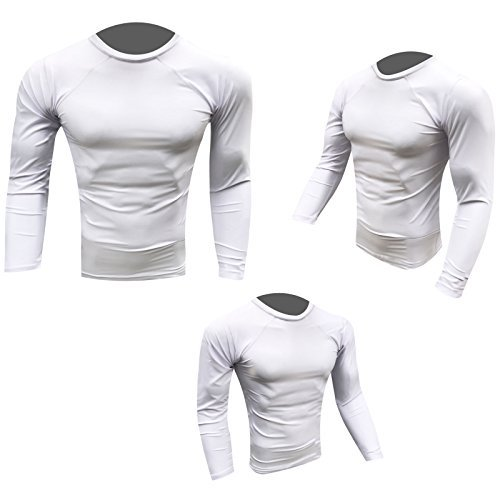 Prime Hastig Schutz Top MMA Laufen Ringen UFC Top T Shirt Herren Boxen Handschuhe Weiß Voll Arm groß