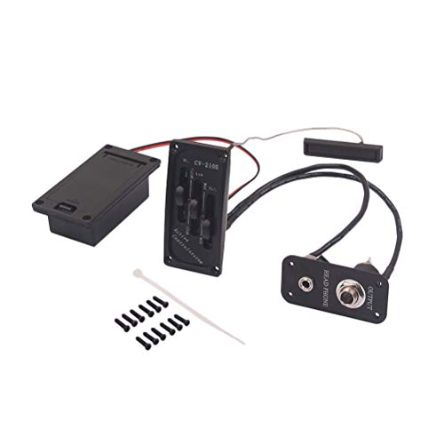 Healifty Gitarrenverstärker-Set Jack Bridge Pickup 2,5 mm neues Musikinstrument Zubehör für E-Violine (schwarz)