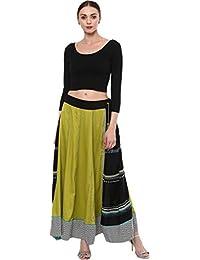 81e74371454a7e Fressia Fabrics Women s Cotton Readymade Saree Blouse Stretchable Crop Top  Choli