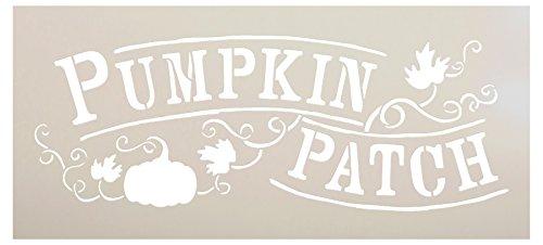 Pumpkin Patch Schablone von studior12| handeingezogen, Vines Wort Art-wiederverwendbar Mylar | Malerei, Kreide, Mischtechnik | Vorlage, für Wand-Kunst, DIY Home Decor-wählen Sie Größe 12