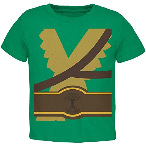Old Glory Halloween Krieger Elfe Kostüm Kleinkind T Shirt Kelly Green 4 t