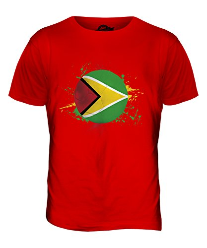 CandyMix Guyana Fußball Herren T Shirt Rot