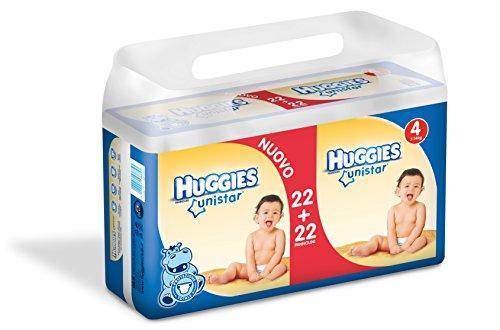Huggies Unistar Pannolini, Taglia 4 (7-14 kg), 2 Confezioni da 44 [88 Pannolini]