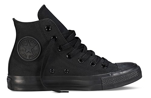 Converse All Star Hi Canvas Sneaker, Unisex Adulto, Nero (Black Monochrome), 37.5