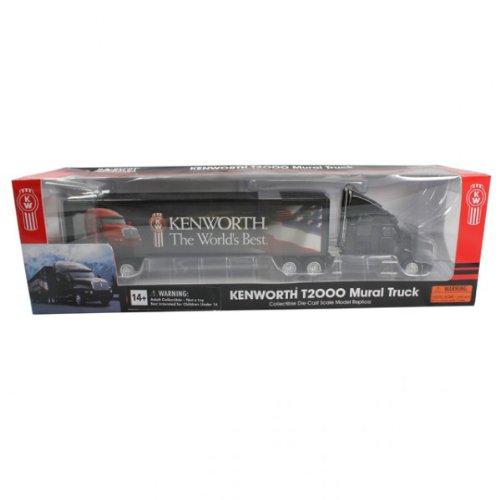 Norscot 62101 Kenworth T2000 Mural Truck Schwarz USA Sammlerstück Original verpackt - Usa Truck
