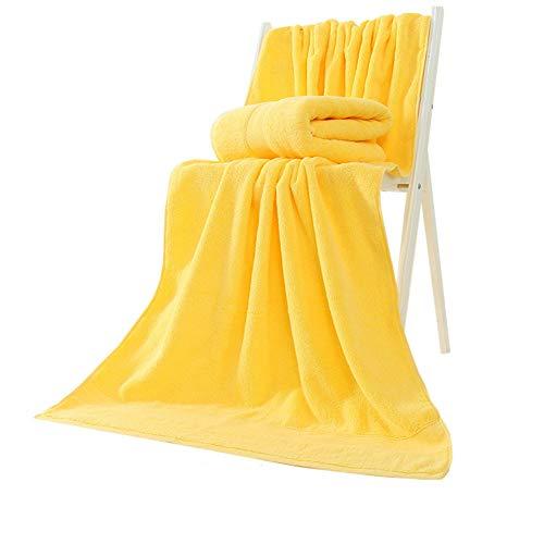 AUTTYL Badetuch Ultra Soft Bettwäsche Aus ägyptischer Baumwolle Handtücher Set Von 2 Hotel gelb 140x70cm(55x28inch) -
