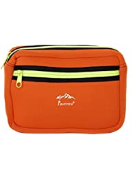 Generic Multifunction Camping Hiking Zipper Molle Utility Bag Case Pouch With Ladder Locks - Orange