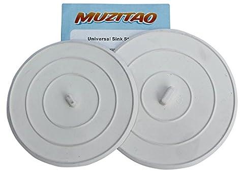 Bouchon d'évier en caoutchouc (Pack de 2) – Bouchon de baignoire & évier de cuisine – Le bouchon universel multi-usages par Muzitao