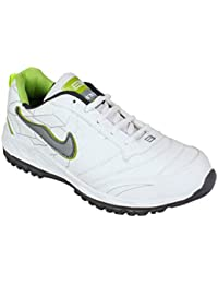 BNG White P Green Synthetic Leather Sports Shoes (ES-16)