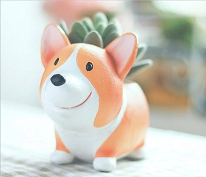 Image of somarke Cute Animal Shaped Cartoon Home Decoration Succulent Vase Flower Pots