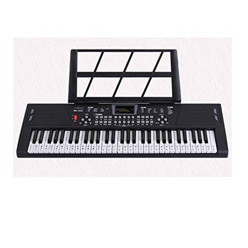 Elektronische Tastatur, Kindertastatur, Geeignet für Kinder von 1-12, 68 * 20 * 5cm, Schwarz, Rosa (Geschenkpaket senden) (Color : Black-68 * 20 * 5cm)
