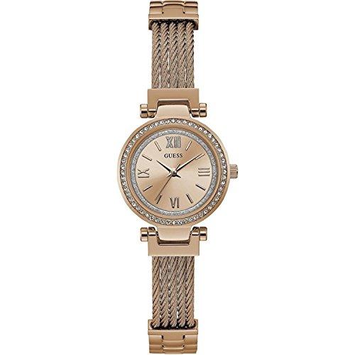 Guess Womens Mini Soho Rose Gold Tone Bracelet W1009L3