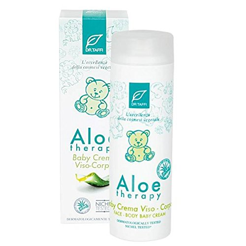DR.TAFFI - Crema Viso Baby Aloe Therapy - Crema bio e vegan, ideale per la pelle di neonati e bambini - Dona una morbida carezza emolliente - Con profumazione senza allergeni - Nichel tested. - 200 ml