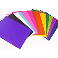 Asian Hobby Crafts Colorful Felt Craft Sheets for Handmade Arts (Randomly 10pcs) (Clear, A3 Size)