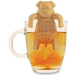 NOKI Pug in a Mug - Infusor de silicona, diseño de carlino