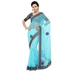 Aruna Sarees Polyester Saree (Gbb-786_Light Blue)