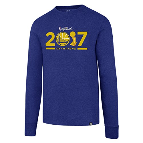 NBA Golden State Warriors 2017Champs Herren 's Club Long Sleeve Tee, Herren, NBA Golden State Warriors 2017 Champions Men's '47 Club Long Sleeve Tee, königsblau (State Brand Warriors 47 Golden)