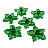 6 x Lego Duplo Pflanze Blüte grün Blume Blätter für Set 2866 9130 5649 4961 4960 2987 4971 6510