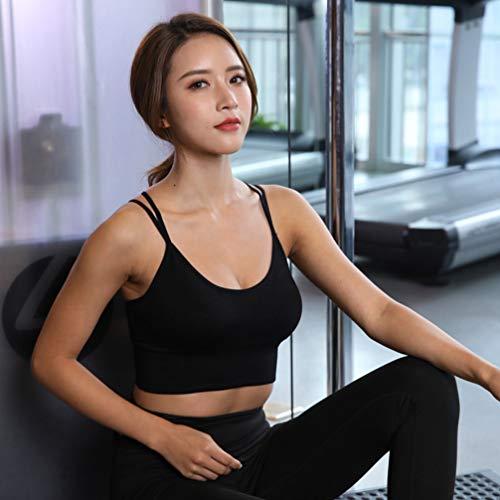 TENDYCOCO Sport-BH für Frauen Komfort Gepolstert Nahtlose High Impact Unterstützung für Yoga-Fitness-Workout Fitness - Schwarz S - 8