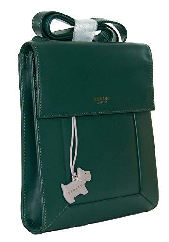 Radley Umhängetasche mit Überschlag aus Leder, Größe M, Grün