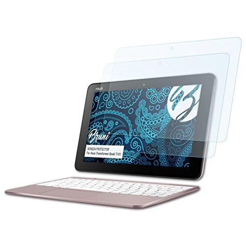 Bruni Schutzfolie kompatibel mit Asus Transformer Book T101 Folie, glasklare Bildschirmschutzfolie (2X)