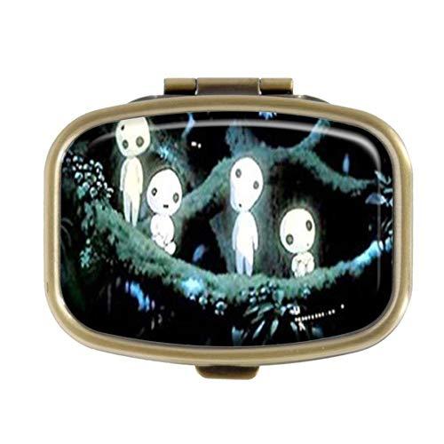 Preisvergleich Produktbild Qcc Kodamas Prinzessin Mononoke Pillendose Deko-Boxen,  Bronzefarben,  rechteckig,  Pillendose,  Medikamenten-Aufbewahrung,  Geldbörse für Taschen oder Geldbörse