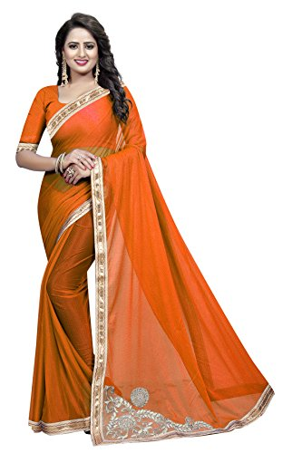 Fashion and Hub Women's Party Wear Cotton and Georgette Saree With Blouse...