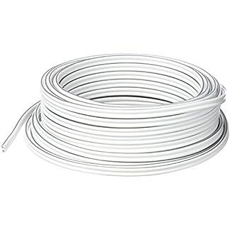 2 x 2,5 mm/², transparente, anillo de 50 m MANAX Cable de altavoz