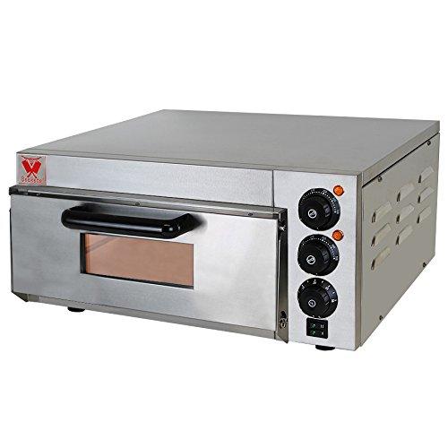 Beeketal 'BPO33-1' Profi Pizzaofen mit 400x400 mm Schamottstein Backfläche, Gastro Steinbackofen für - Pizzaofen Selber