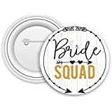 Jaz Deals Designer Bride Squad Print Round Shape Badges Set Of 15