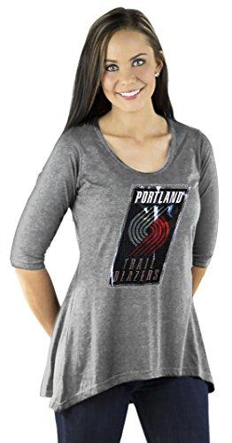 Gameday Couture NBA Damen Tunika mit 3/4-Ärmeln, Damen, ABTHLT, grau, XX-Large - Couture Blazer