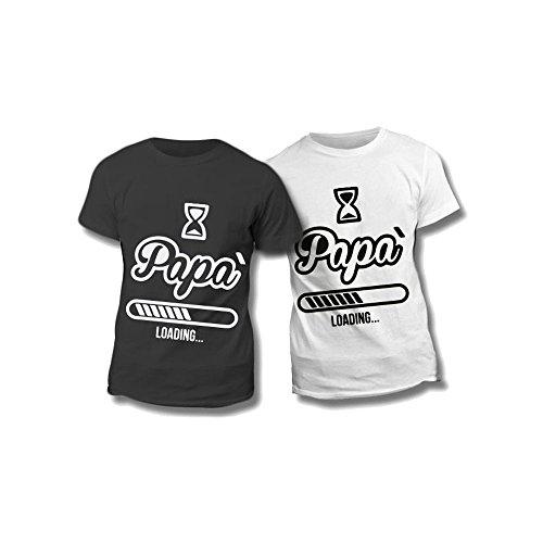 Altra marca t-shirt uomo maglietta nera personalizzata dad loading maglia maschile estiva idea regalo per la festa del papà - l