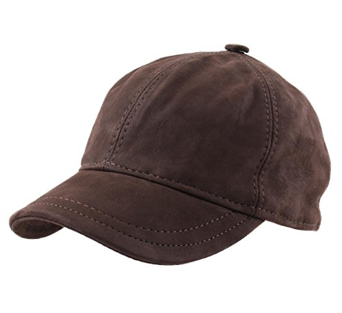 Classic Italy - Casquette Baseball Cuir Homme ou Femme Nappa Wax