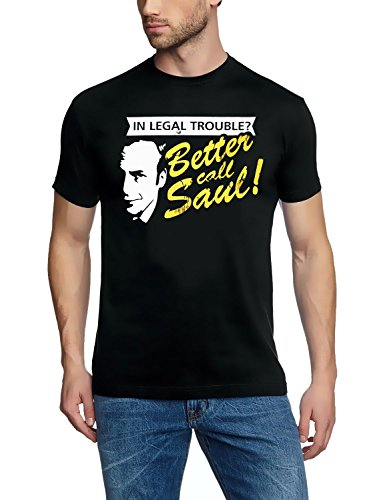 Coole-Fun-T-Shirts - T-Shirt In Legal Troube ? Better Call Saul ! Heisenberg, T-shirt, nero(schwarz), M