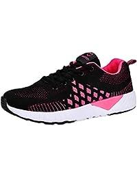 Logobeing Zapatos Deportivos de Mujer Casa Correr Zapatillas Deporte Mujer  Caminar Calzado de Running Ligero para 25774e0d16b9d