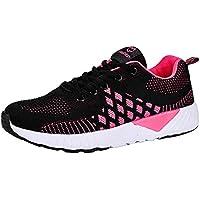 ☺HWTOP Damenschuhe Sneakers Sportschuhe Laufschuhe Plateauschuhe Turnschuhe Mode Frauen Schnürstiefel Schuhe Atmungsaktives Leichte Schuhe Trainer Outdoor Freizeitschuhe Fitnessschuhe