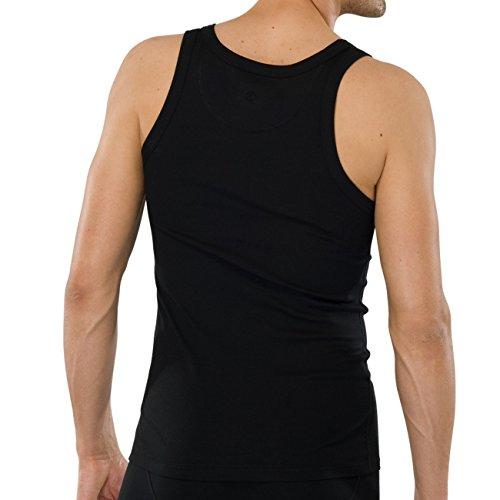 SCHIESSER Herren Achsel-Shirt Naturbursche 2er Pack Schwarz (000-schwarz)