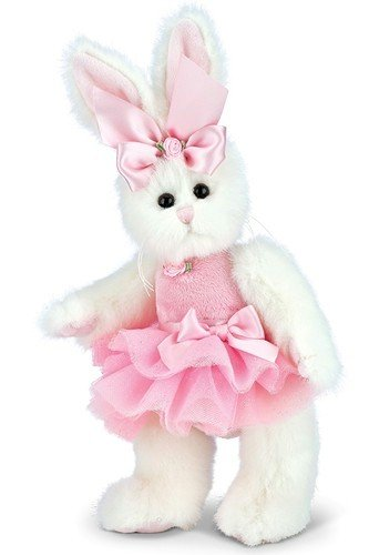 Bearington Collection Bunni Ballerina Plüschtier rosa Hase mit Tutu 10 Zoll -