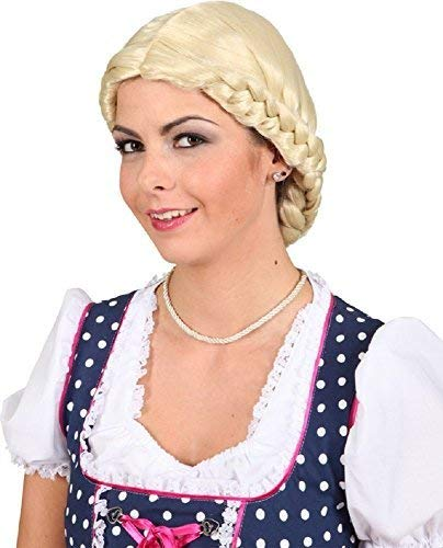 Bavarois Kostüm - Fancy Me Heidi up-Do Oktoberfest Traditionelle Bavarois Carnaval Festival Kostüm Perruque