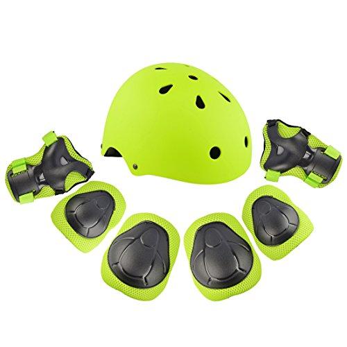 Kinder Protektorenset, Vicoki Knieschoner, Ellenbogenschoner Handgelenkschoner Schutzausrüstungen Set und Helm für Scooter Skateboard, Radfahren, Reiten
