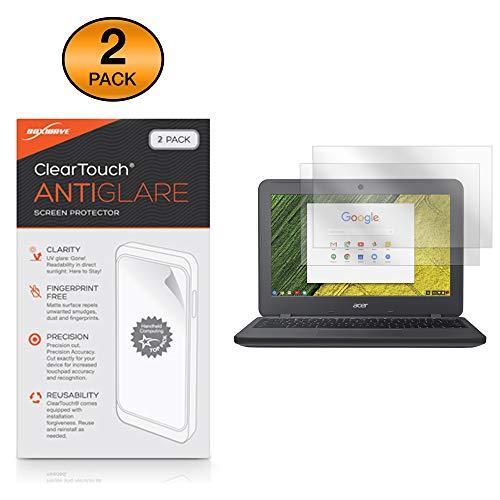 Acer Chromebook 11N7(C731) Bildschirmschutzfolie, BoxWave ClearTouch AntiGlare (2er Pack) [Anti-Fingerprint Matt Folie Schutzfolie für Acer Chromebook 11N7(C731)