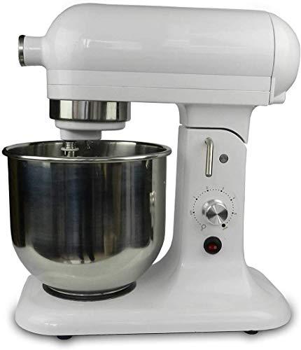 Home Küchenmaschine Mischmaschine Knetmaschine 500 W 7 Liter Planetenmischsystem 7-stufiges Schnellspannsystem für Edelstahlbehälter Druckguss-Rühr- und Teighaken-Multifunktion